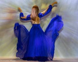 Johnathan Kayne Blue Size 2 Side Slit Side slit Dress on Queenly