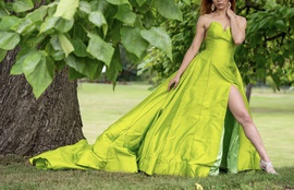 Queenly size 2 Jovani Green Ball gown evening gown/formal dress