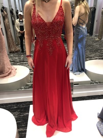 Queenly size 4 Blondie Nites Red Ball gown evening gown/formal dress