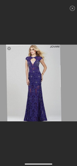Jovani Royal Blue Size 16 Ball Gown Mermaid Dress on Queenly