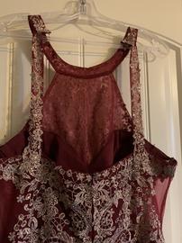 Multicolor Size 18 Side slit Dress on Queenly