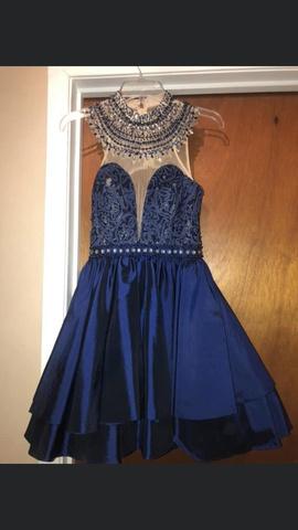 Queenly size 6 Rachel Allan Blue Cocktail evening gown/formal dress
