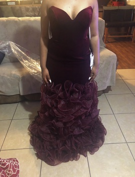 Jovani Red Size 10 Short Height Mermaid Dress on Queenly