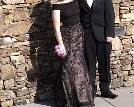 Sherri Hill Black Size 8 Short Height Floral Mermaid Dress on Queenly