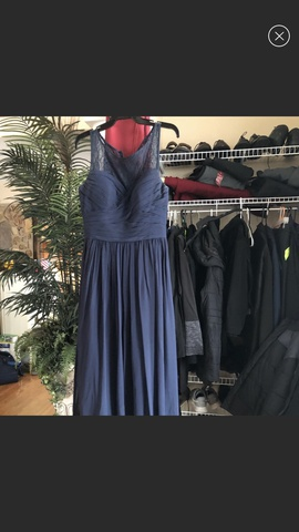Camille La Vie Blue Size 8 Prom A-line Dress on Queenly
