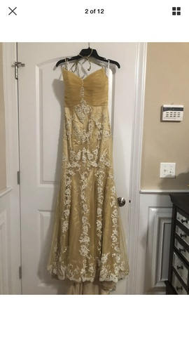 Posh Precious Gold Size 6 A-line Dress on Queenly