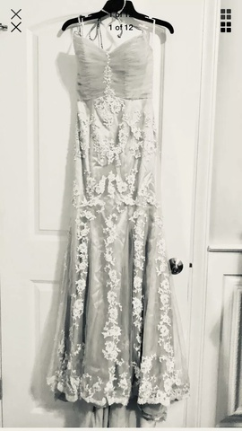 Queenly size 6 Posh Precious Gold A-line evening gown/formal dress