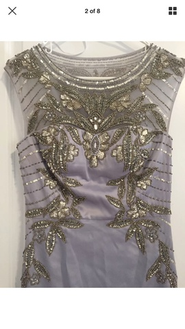 Sue Wong Purple Size 6 Homecoming Cap Sleeve Cocktail Dress on Queenly