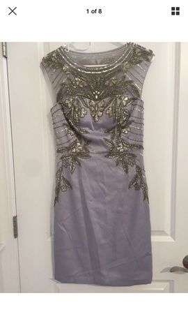 Queenly size 6 Sue Wong Purple Cocktail evening gown/formal dress