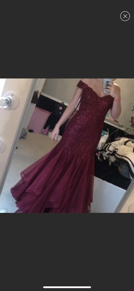 Sherri Hill Red Size 8 Mermaid Dress on Queenly