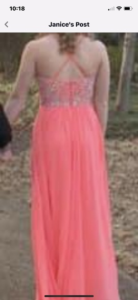 Tony Bowls Orange Size 4 Coral Sequin A-line Dress on Queenly