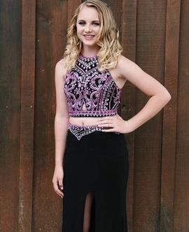 Rachel Allan Black Size 0 Prom Side slit Dress on Queenly