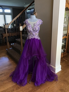 Queenly size 2 Tony Bowls Purple Cocktail evening gown/formal dress