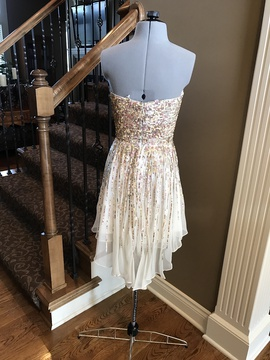 Sherri Hill White Size 0 Strapless Homecoming Cocktail Dress on Queenly