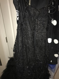 Colors Black Size 12 Plus Size Feathers Mermaid Dress on Queenly