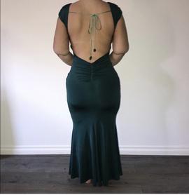 Tarik Ediz Green Size 6 A-line Dress on Queenly