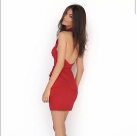 Tarik Ediz Red Size 6 Pockets Cocktail Dress on Queenly