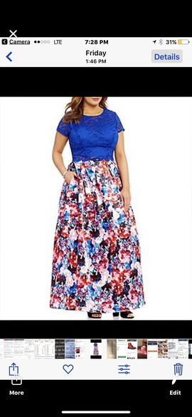 Multicolor Size 20 A-line Dress on Queenly