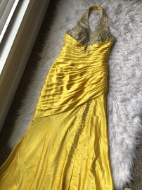 Mori Lee Yellow Size 8 Padded Prom Ball gown on Queenly