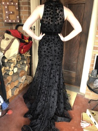 Black Size 2 Mermaid Dress on Queenly