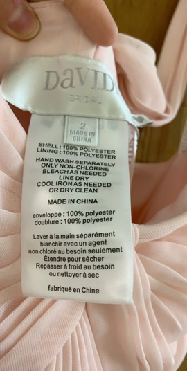 Davids Bridal Pink Size 2 Fitted Straight Dress on Queenly