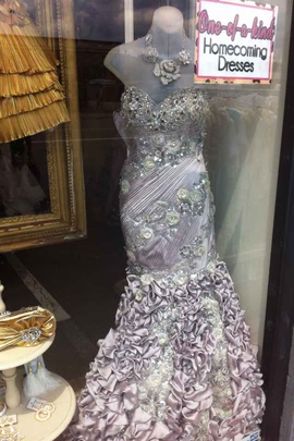 Queenly size 6 Mac Duggal Silver Mermaid evening gown/formal dress