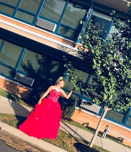 Tiffany Designs Red Size 10 Ball gown on Queenly