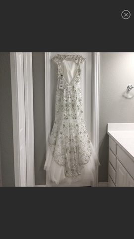 Sherri Hill White Size 6 Jewelled Mermaid Dress on Queenly