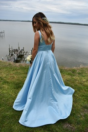 Sherri Hill Blue Size 4 Short Height Ball gown on Queenly