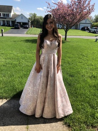 Queenly size 0  Pink A-line evening gown/formal dress