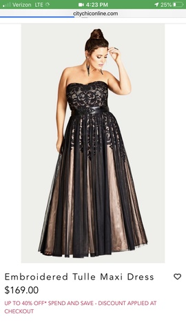 Queenly size 16 City Chic Black Ball gown evening gown/formal dress