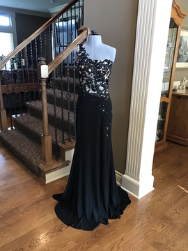 Queenly size 0  Black Side slit evening gown/formal dress