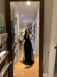 BCBG Black Size 0 Tulle A-line Dress on Queenly
