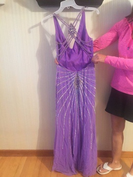 Purple Size 4 Straight Dress on Queenly
