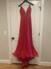 Queenly size 0 Jovani Pink Side slit evening gown/formal dress