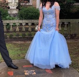 Mori Lee Blue Size 8 Mermaid Dress on Queenly