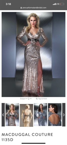 Mac Duggal Rose Gold Size 6 Train Dress on Queenly
