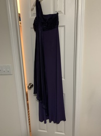 David's Bridal Purple Size 2 One Shoulder Prom Straight Dress on Queenly