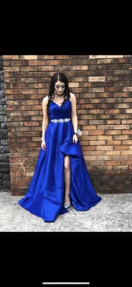 Alyce Paris Royal Blue Size 4 Side slit Dress on Queenly