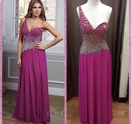 Terani Couture Pink Size 8 Sequin Straight Dress on Queenly