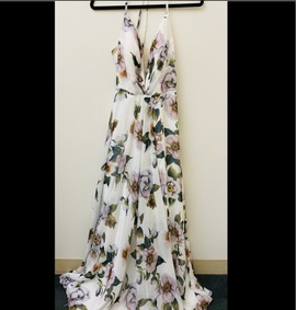 Queenly size 8 Faviana Multicolor Side slit evening gown/formal dress