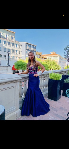 Mori Lee Blue Size 4 Sweetheart Strapless Mermaid Dress on Queenly
