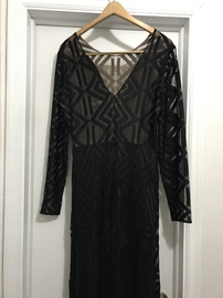 Queenly size 12 BCBG Black Straight evening gown/formal dress