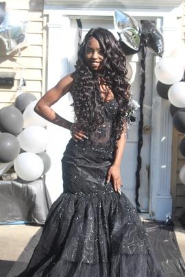 Jovani Black Size 2 Corset Strapless Train Mermaid Dress on Queenly