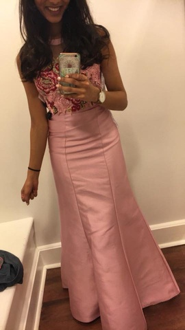 Queenly size 0  Pink Mermaid evening gown/formal dress