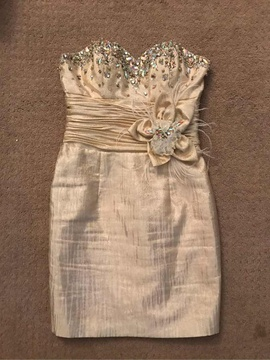 Queenly size 2  Gold Cocktail evening gown/formal dress