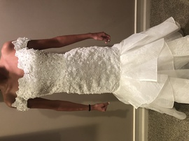 White Size 00 Mermaid Dress on Queenly