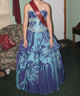 Queenly size 10 Mystique Blue Ball gown evening gown/formal dress