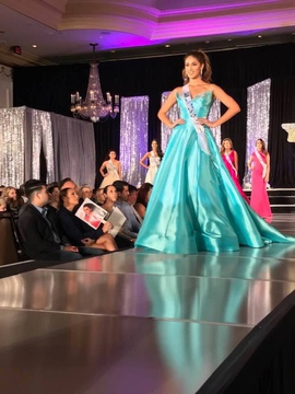 Jovani Blue Size 2 Pageant Tall Height Ball gown on Queenly