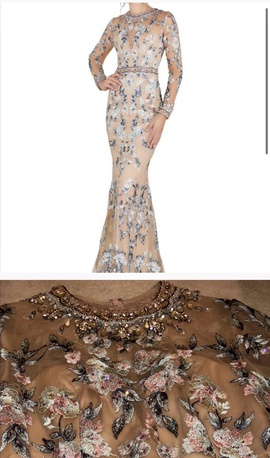Queenly size 6  Nude Mermaid evening gown/formal dress
